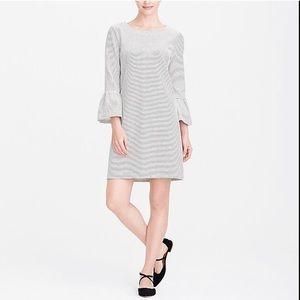 J.Crew Factory Striped ruffle-sleeve dress